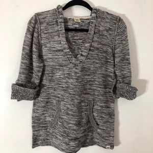 Roxy Wild at Heart Grey Marl Hoodie Sweater